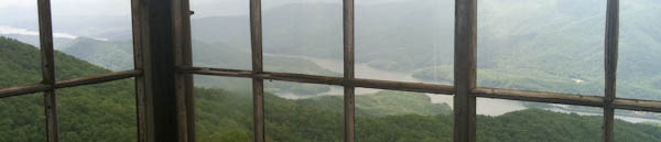 Photo from the top of the Shuckstack Fire Tower