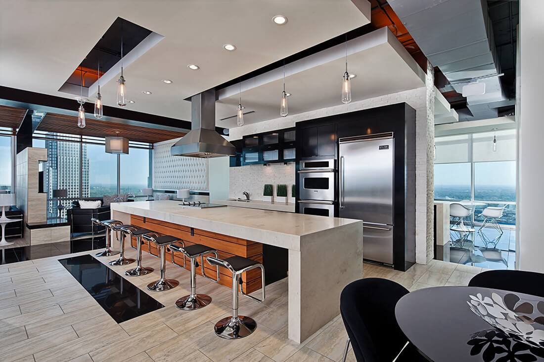 Vue sky lounge bb m architecture charlotte nc mixed for Multifamily design